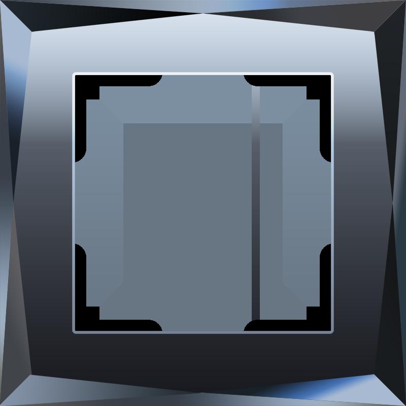 Рамка на 1 пост (черный) WL08-Frame-01